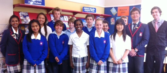 The Form Class Representatives with Sachinie and Mark (School Exec members) and Mr Cargill (Y9 Dean)