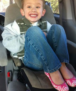 Sam,  American 5 year old boy who chose to wear pink shoes.