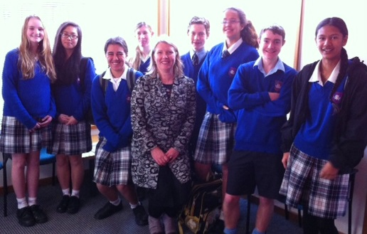 The writing ambassadors with Ms King