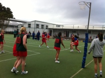 Netball in action