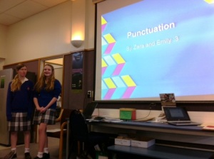 Punctuation Presentation - how Zara and Emily understand the steps to great punctuation