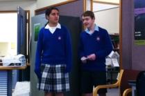 Tiarne and Josh presenting