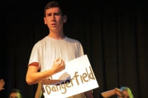 Y13 Item - Mr Dangerfield tells the audience about his desire for a moonlight kiss