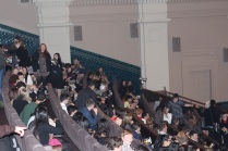 In the Sold Out Embassy seats were fought over. Often conflict was solved through film trivia battles.