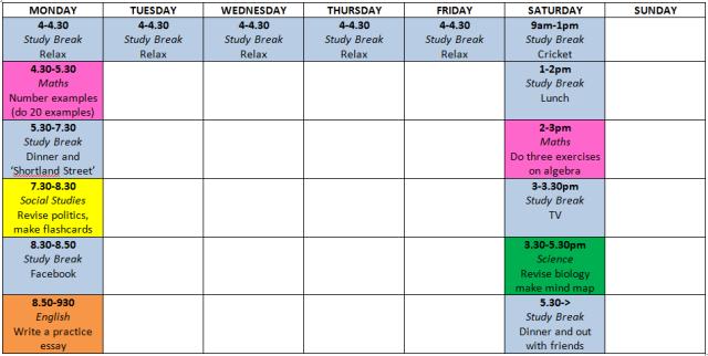 Study_Timetable
