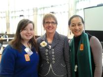 Rebekah, Hon Jo Goodhew and Board of Trustees Member Helen Potiki