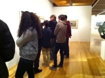 City Gallery crew visiting Te Papa